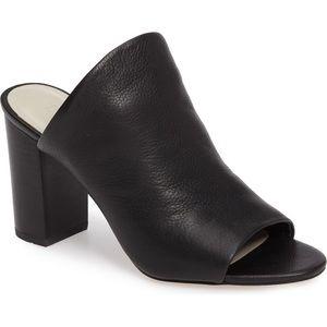 1.STATE Sloan Black Leather Mule 9.5